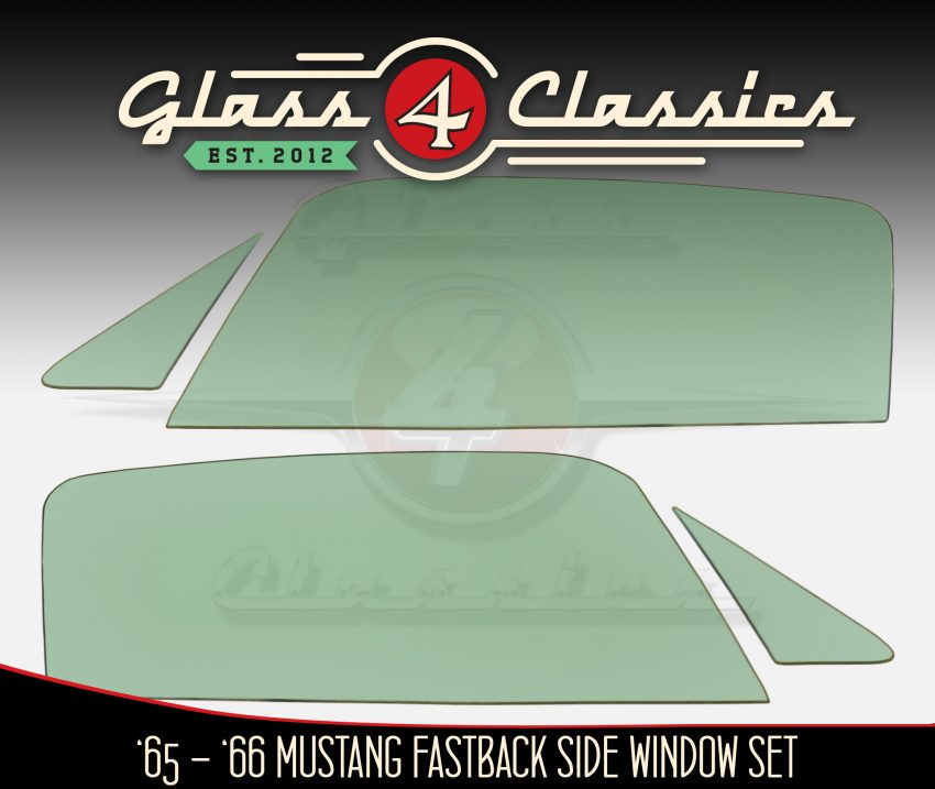1965 - 1966 Ford Mustang Fastback Side Windows