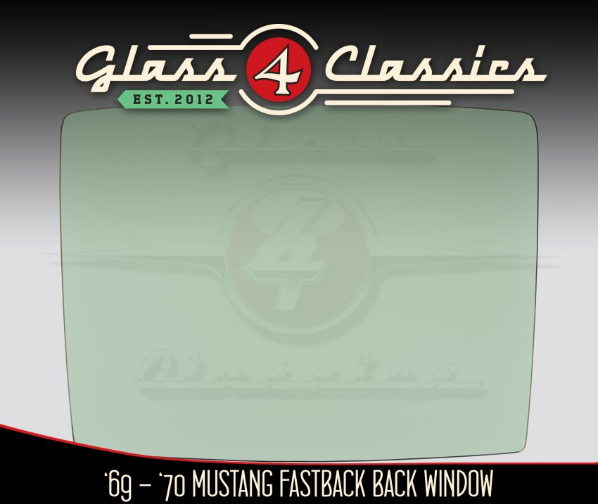 1967 - 1968 Ford Mustang Fastback Back Glass