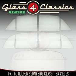 FX - FJ Holden Sedan side set & back glass package Glass 4 Classics