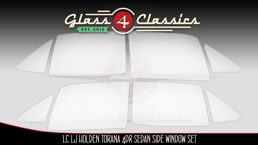 HB LC LJ TA Holden Torana 4 door sedan side windows from Glass 4 Classics