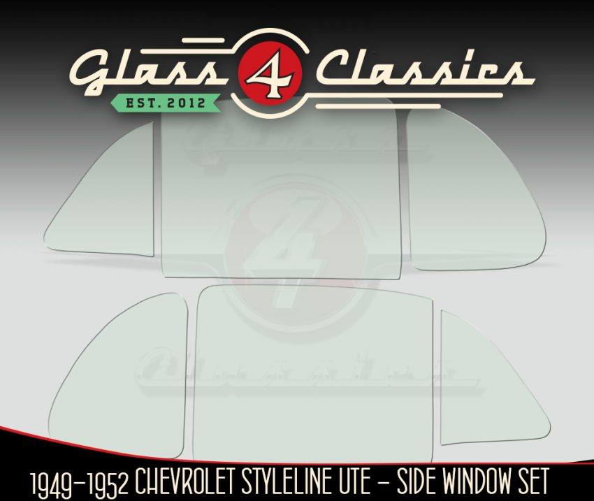 1949 - 1952 Chevrolet Coupe Ute side glass