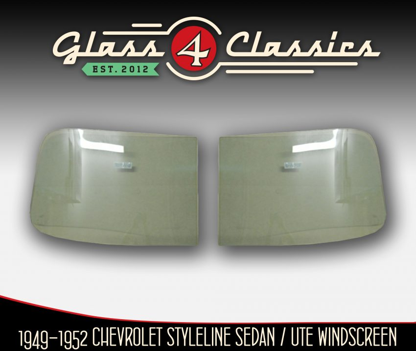 1949 - 1952 Chevrolet two piece front windscreen Glass 4 Classics