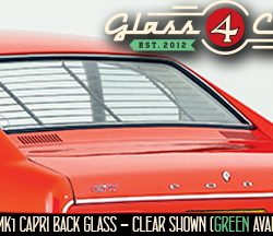 Mk1 Ford Capri Coupe back glass