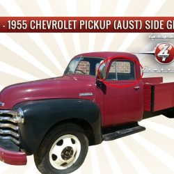 1947 - 1955 Chevrolet Chevy Pickup Truck side windows (Australian body)