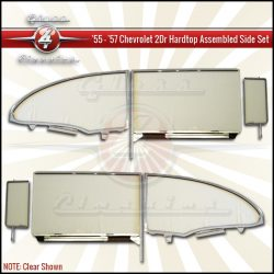 1955, 1956, 1957 Chevrolet 2 Door Hardtop assembled side windows