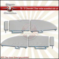 1955, 1956, 1957 Chevrolet 2 Door sedan assembled side windows