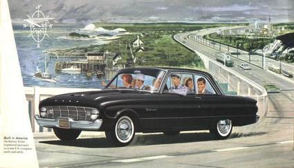 1960 - 1962 Falcon Sedan rear window