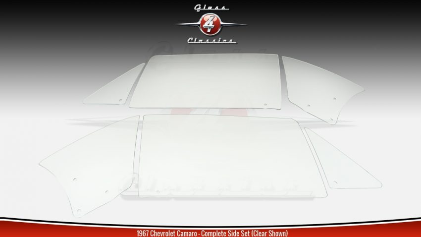 1967Chevrolet Camaro Hardtop Side Windows   NEW Glass