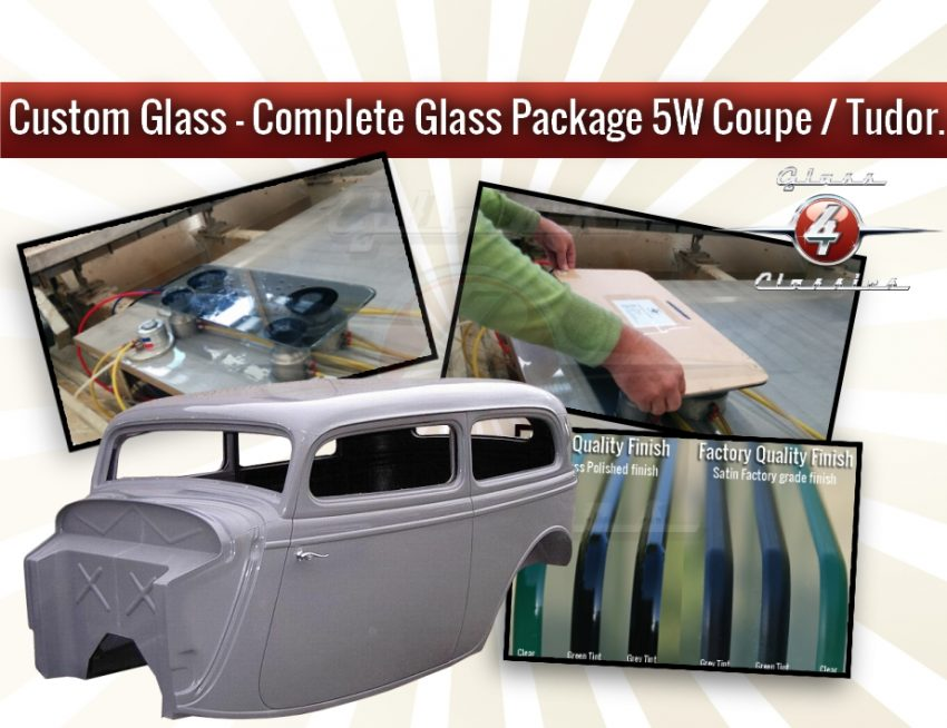 Complete Glass Package - 5W coupe - 1Pc Windscreen