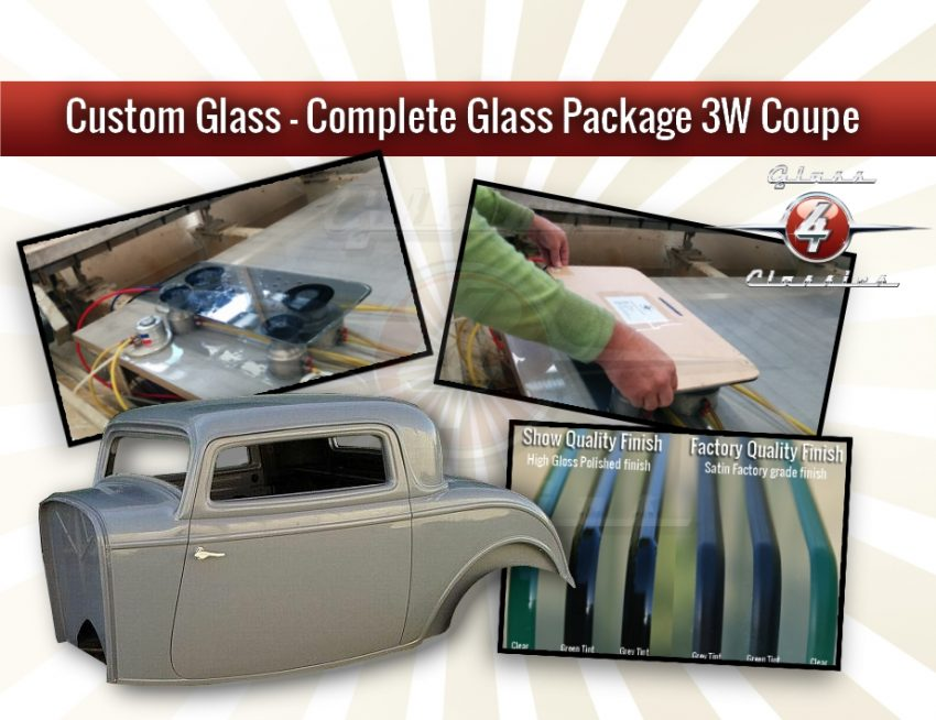 Complete Glass Package - 3W coupe - 2Pc Windscreen