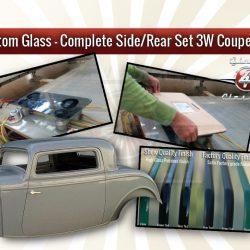 Complete Side/rear window set - 3W coupe