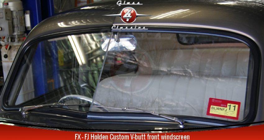 FX–FJ Holden replacement custom V-butt windscreen| Sedan Ute Van