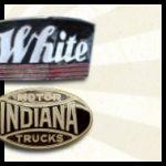 Vintage White Truck 1935 - 1947