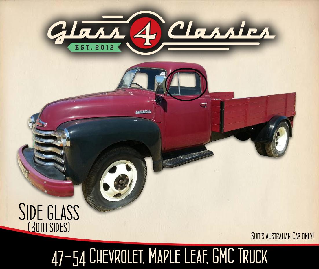 1947 - 1954 GMC Pickup Truck side windows (Australian body)