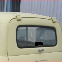 FJ Holden van / panel van upper tailgate glass