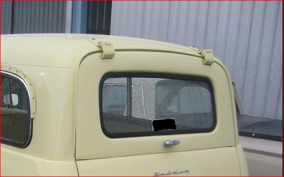 FJ Holden van / panel van upper tailgate glass