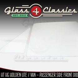HK HT HG Holden Panel Van Side window glass