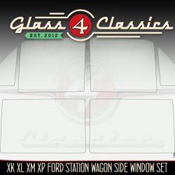 XK XL XM XP Ford Falcon station wagon side windows, glass