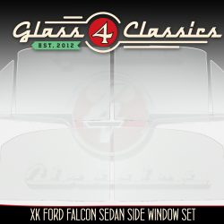 XK Ford falcon side window glass set