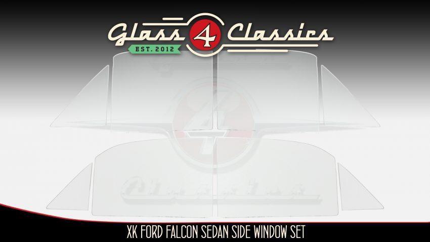 XK Ford falcon side window glass set