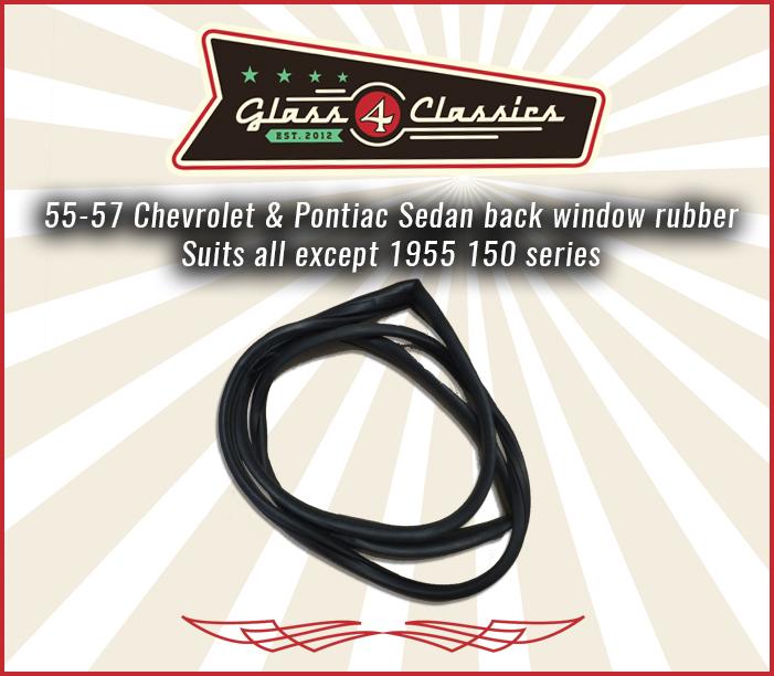 55, 56, 57 Chevrolet 2 & 4 door sedan back window rubber
