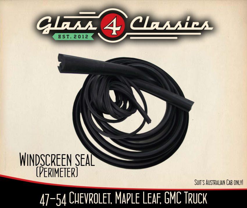 1947-1954 Chevrolet Pickup Truck (Australian body) Windscreen seal & Lock strip