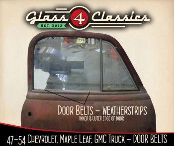 1947-1954 Chevrolet Pickup Truck (Australian body) Door Belts