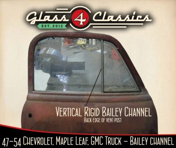 Image showing location of 1947-1954 Chevrolet Pickup Truck (Australian body) Vertical rigid bailey channel