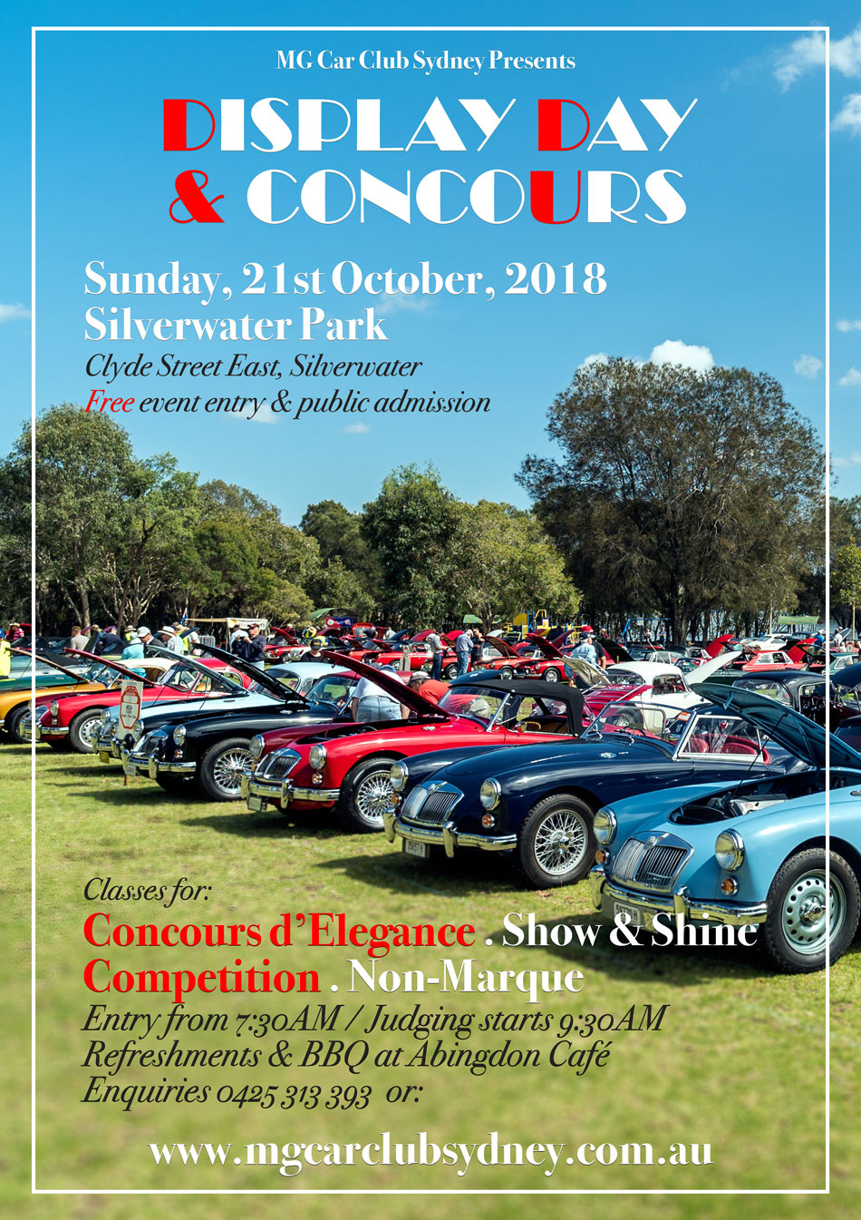 MG Car Club Display Day And Concours Glass Classics - Mg car show