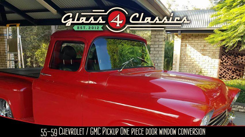 1955 - 1959 Chevrolet GMC pickup One piece door glass one piece window glass