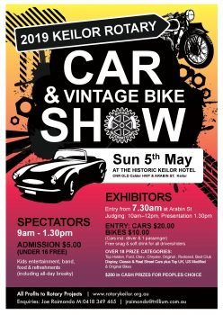 2019 Keilor Rotary Car and Vintage Bike Show