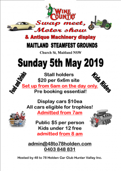 Wine Country Swap Meet and Motor Show 2019
