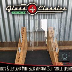 Morris / Leyland Classic Mini Back Glass. Glass 4 Classics